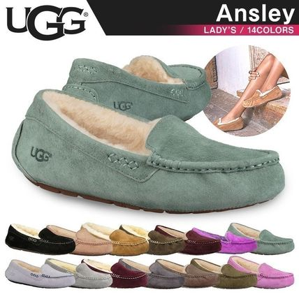 UGG Australia More Flats Moccasin Rubber Sole Casual Style Fur Street Style Flats 2