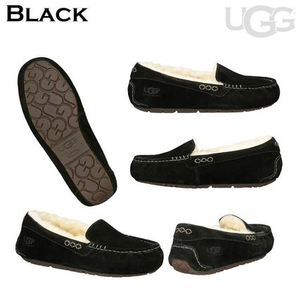 UGG Australia More Flats Moccasin Rubber Sole Casual Style Fur Street Style Flats 4