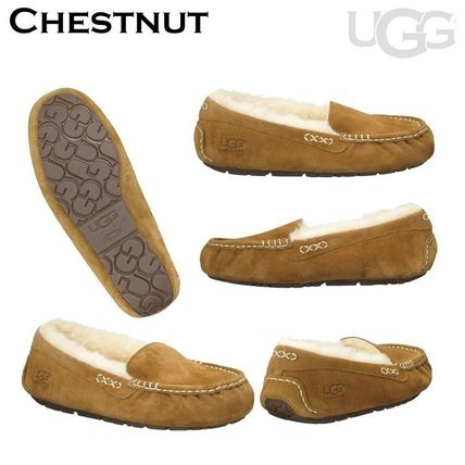 UGG Australia More Flats Moccasin Rubber Sole Casual Style Fur Street Style Flats 5