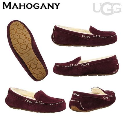 UGG Australia More Flats Moccasin Rubber Sole Casual Style Fur Street Style Flats 7
