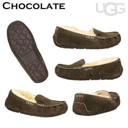 UGG Australia More Flats Moccasin Rubber Sole Casual Style Fur Street Style Flats 8