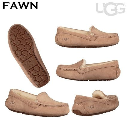 UGG Australia More Flats Moccasin Rubber Sole Casual Style Fur Street Style Flats 9