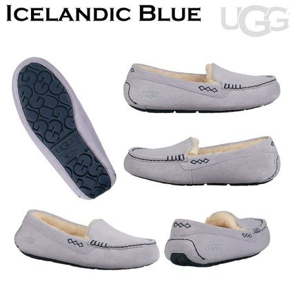 UGG Australia More Flats Moccasin Rubber Sole Casual Style Fur Street Style Flats 10