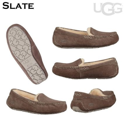 UGG Australia More Flats Moccasin Rubber Sole Casual Style Fur Street Style Flats 11