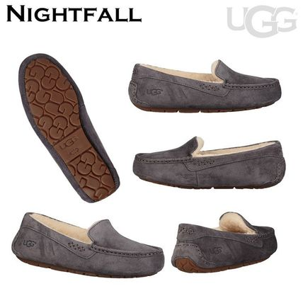 UGG Australia More Flats Moccasin Rubber Sole Casual Style Fur Street Style Flats 14