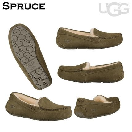 UGG Australia More Flats Moccasin Rubber Sole Casual Style Fur Street Style Flats 15