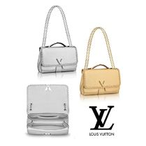 Louis Vuitton 2WAY Leather Elegant Style Handbags