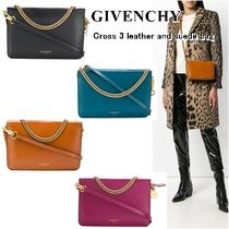 GIVENCHY CROSS3 3WAY Chain Leather Elegant Style Shoulder Bags