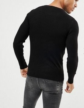 ASOS Knits & Sweaters Crew Neck Street Style Long Sleeves Plain Knits & Sweaters 3