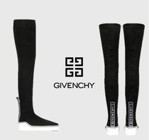 GIVENCHY Plain Toe Rubber Sole Casual Style Street Style