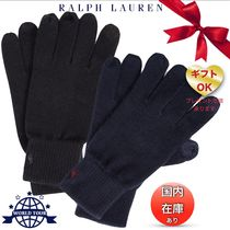 Ralph Lauren Unisex Plain Cotton Smartphone Use Gloves