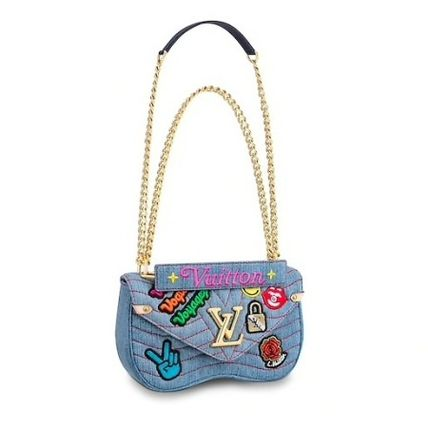 Louis Vuitton Shoulder Bags Casual Style Canvas Blended Fabrics 2WAY Chain Shoulder Bags 2