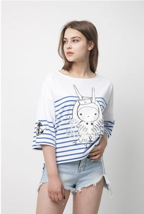 Crew Neck Stripes Collaboration Cropped