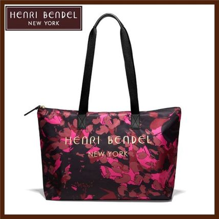 Flower Patterns Nylon A4 2WAY Totes