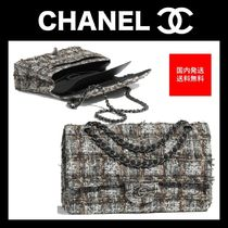 CHANEL Other Check Patterns 2WAY Chain Plain Elegant Style Handbags