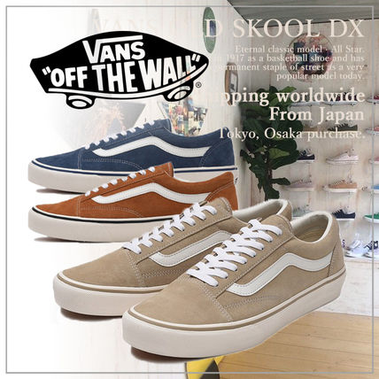 VANS Low-Top Casual Style Unisex Plain Low-Top Sneakers