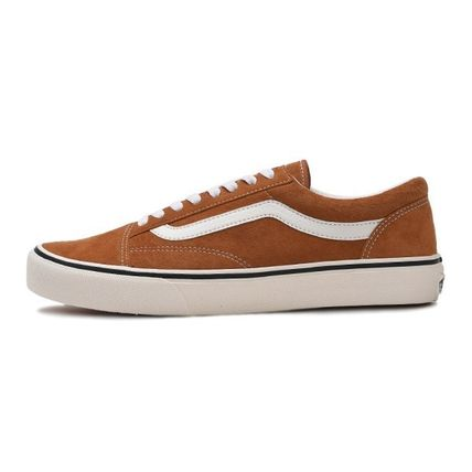 VANS Low-Top Casual Style Unisex Plain Low-Top Sneakers 8