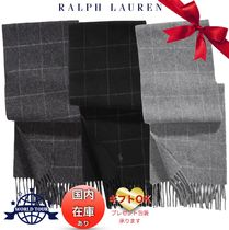 Ralph Lauren Other Check Patterns Unisex Wool Fringes Scarves
