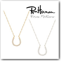 Ron Herman Casual Style Silver 18K Gold With Jewels