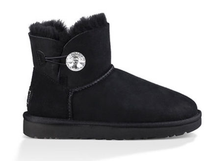 UGG Australia Flat Round Toe Rubber Sole Casual Style Sheepskin Plain 2