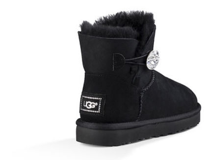 UGG Australia Flat Round Toe Rubber Sole Casual Style Sheepskin Plain 4