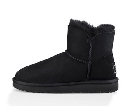 UGG Australia Flat Round Toe Rubber Sole Casual Style Sheepskin Plain 5