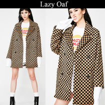 LAZY OAF Other Check Patterns Casual Style Medium Peacoats