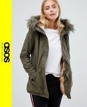 ASOS Casual Style Faux Fur Blended Fabrics Medium Parkas