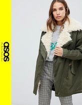 ASOS Casual Style Blended Fabrics Medium Parkas