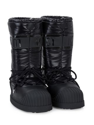 Plain Toe Mountain Boots Rubber Sole Casual Style