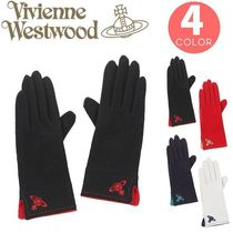 Vivienne Westwood Casual Style Wool Plain Smartphone Use Gloves