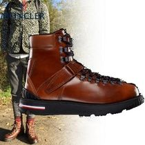 MONCLER Plain Toe Mountain Boots Plain Leather Outdoor Boots
