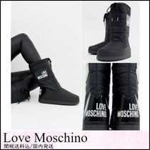 Love Moschino Round Toe Rubber Sole Lace-up Casual Style Lace-up Boots