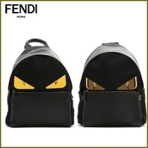 FENDI BAG BUGS Nylon Blended Fabrics Street Style A4 Backpacks