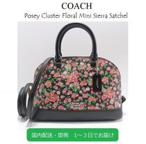 Coach Flower Patterns Casual Style 2WAY Leather Handbags