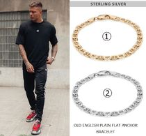 Chained & Able Unisex Street Style Plain Silver Bracelets