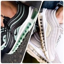 Nike AIR MAX 97 Stripes Plain Toe Lace-up Casual Style Unisex Street Style