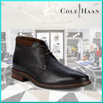 Cole Haan Plain Toe Plain Leather Chukkas Boots