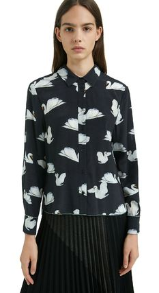 Long Sleeves Other Animal Patterns Shirts & Blouses