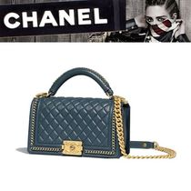 CHANEL Calfskin 2WAY Plain Handbags