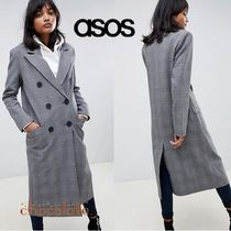 ASOS Other Check Patterns Casual Style Long Coats