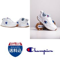CHAMPION Monogram Casual Style Unisex Street Style Low-Top Sneakers