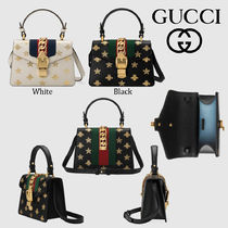 GUCCI Sylvie Star Other Animal Patterns Leather Elegant Style