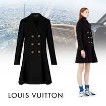 Louis Vuitton Short Cashmere Plain Elegant Style Peacoats