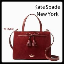kate spade new york Suede Tassel Plain Handbags