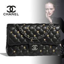 CHANEL TIMELESS CLASSICS Lambskin Chain Elegant Style Shoulder Bags