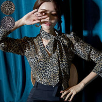 Leopard Patterns Long Sleeves Medium Party Style