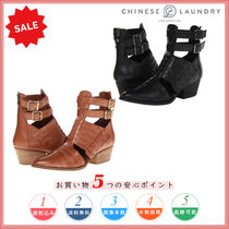 CHINESE LAUNDRY Casual Style Plain Leather Chunky Heels