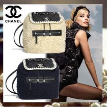 CHANEL Nylon Blended Fabrics Elegant Style Backpacks