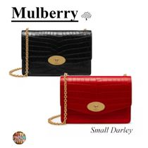 Mulberry Darley 2WAY Other Animal Patterns Leather Clutches